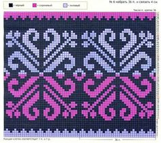 pattern for tapestry or mochila bag Tapestry Crochet Patterns, Bead Loom Patterns, Beading Patterns, Cross Stitch Patterns, Knitting Charts, Knitting Stitches, Knitting Designs, Knitting Patterns, Crochet Chart
