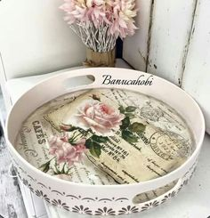 banuca Decoupage Box, Decoupage Vintage, Vintage Decor, Decoupage Glass, Shabby Chic Accessories, Shabby Chic Decor, Frame Tray, Resin Artwork, Crafts For Seniors