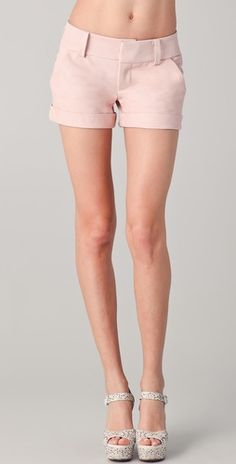 innocent leather shorts and the stick-thin legs that make that kind of statement viable