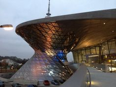 """The car delivery center of BMW & MINI called """"BMW welt"""" near by Olympic park in Munich."""