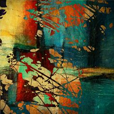 Modern Decor Abstract Painting Wall Decal    ----BTW, Please Visit:  http://artcaffeine.imobileappsys.com