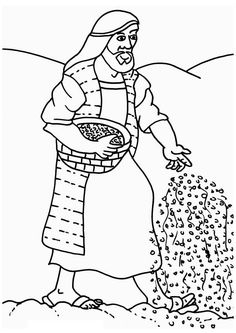 How To Draw Parable Of The Sower Coloring Page : Color