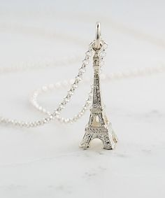 Look at this Sterling Silver Eiffel Tower Pendant Necklace by Lily Charmed Letter Charms, Jewelry Design, Unique Jewelry, Sterling Silver Necklaces, Pendants, Pendant Necklace, Jewels, Tower, Charmed