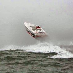 Its all about how you work the throttle....jumpin waves!