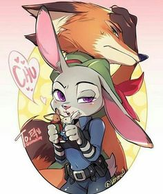 Zootopia - Nick Wilde x Judy Hopps - Wildehopps Zootopia Nick Wilde, Zootopia Nick And Judy, Disney Films, Disney And Dreamworks, Disney Pixar, Disney Characters, Zootopia Comic, Zootopia Art, Cute Disney