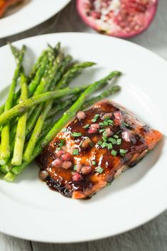 Pomegranate Soy Glazed Salmon - Delicious and easy 30 minute fish dinner that is gluten free, paleo, and dairy free!
