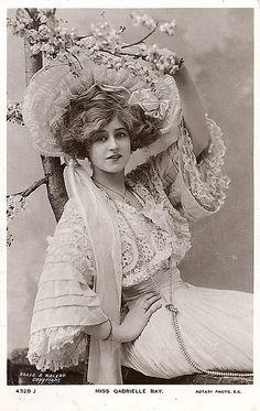 Vintage Style Miss Gabrielle Ray, Edwardian - Explore Vintage Abbildungen, Vintage Mode, Vintage Beauty, Vintage Postcards, Vintage Ladies, Vintage Glamour, Vintage Stuff, Vintage Industrial, Vintage Decor