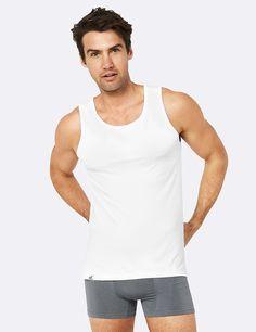 Men's Singlet White - Boody Eco Wear