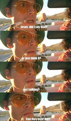 fear and loathing in las vegas // johnny depp Fear And Loathing, Hunter S Thompson, Johny Depp, The Rocky Horror Picture Show, Great Movies, Movies Showing, Movie Quotes, Movie Memes, Life Quotes