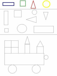 Printable worksheets for kids Geometric Shapes 28 Kg Worksheets, Preschool Worksheets, Printable Worksheets, Preschool Learning Activities, Kindergarten Math, Toddler Activities, Shapes For Kids, Math For Kids, Exercise For Kids