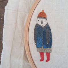 mixed up the colours on their little jacket and i kind of like it. Modern Embroidery, Embroidery Art, Small Art, Textile Artists, Needlework, Winter Hats, Textiles, Colours, Jacket