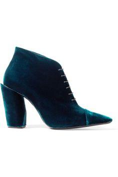 Jil Sander | Velvet ankle boots | NET-A-PORTER.COM