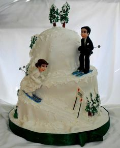 Skiing Wedding Cake Topper Ski Bride And By CherryRedToppers