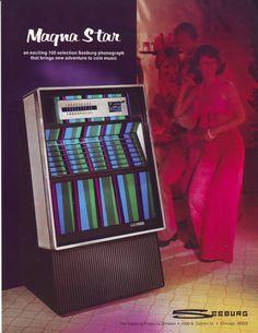 SB100 MAGNASTAR By SEEBURG 1975 ORIGINAL NOS JUKEBOX PHONOGRAPH FLYER MAGNA STAR #SEEBURG #JUKEBOXFLYER