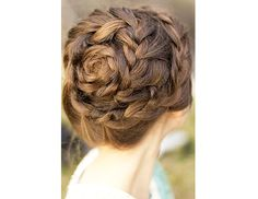 braids with rosette in center
