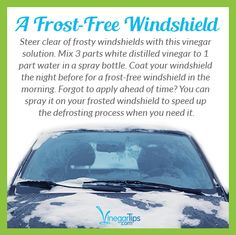 Use this #vinegar #hack to keep windshields frost-free