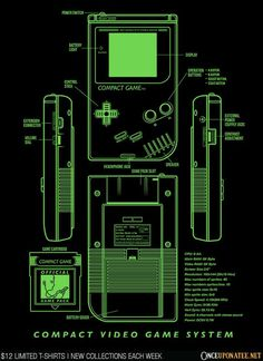Compact Game T-Shirt $12 Gameboy tee at Once Upon a Tee!