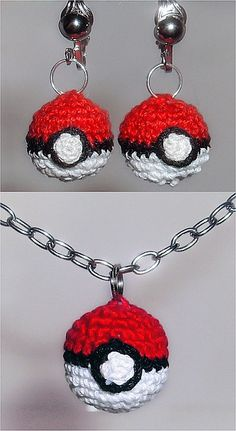 Pokeball Jewelry Set crochet pokemon