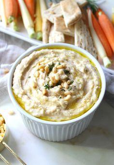 White Bean Dip with Herbs | Vegan + GF | ThisSavoryVegan.com