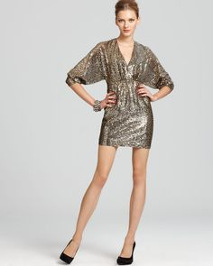 Trina Turk Metallic Sequin Dress.