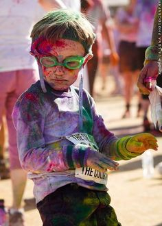 Snazzy little kid from the Color Run