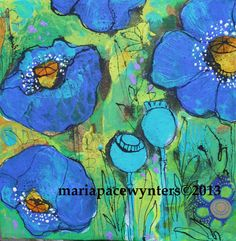 wild-blue-poppies. Maria Pace-Wynters