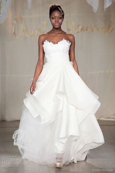 9043019e2ecc Slideshow of wedding dress by Project Runway fashion designers, like this  one from Carol Hannah