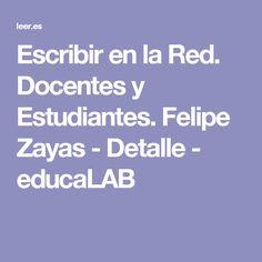 Escribir en la Red. Docentes y Estudiantes. Felipe Zayas - Detalle - educaLAB
