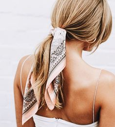 Image result for beach scarf ponytail