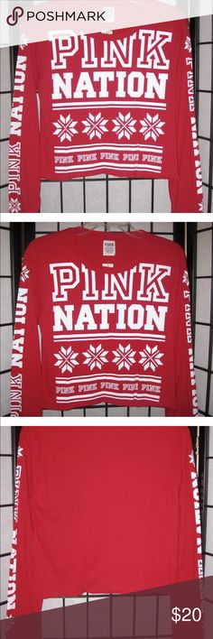 NWTs! VS PINK Holiday tee size medium Brand new with tags! Victoria Secret Pink Nation Holiday tee size Medium. Limited edition!!!! PINK Victoria's Secret Tops Crop Tops
