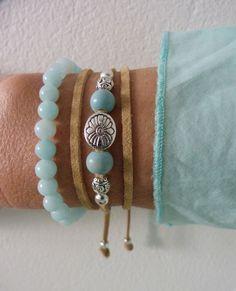 beachconber wrap bracelet - natural faux suede -  beach bohemian bracelet