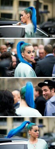 katy perry hair style blue