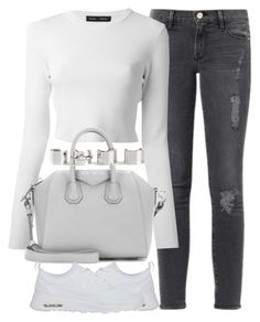 """Untitled #3756"" by london-wanderlust ❤ liked on Polyvore featuring Frame Denim, Proenza Schouler, Givenchy, NIKE and Maison Margiela"