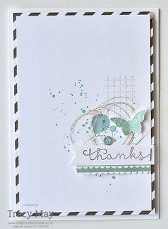 Another Stampin' Up! Colour Combination Challenge for Create with Connie & Mary #CCAM402 - clean and simple card making ideas from Tracy May