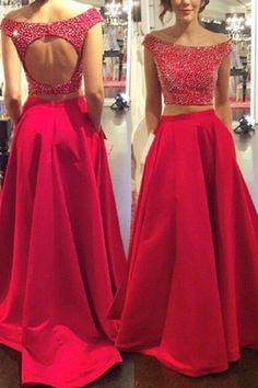 aa4f84f2b7785 Open Back Prom Dresses, Two Pieces Prom Dresses, 2018 Prom Dresses #2018 # Prom #Dresses #Two #Pieces #Open #Back Prom Dresses 2019