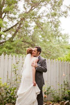 Romantic Garden Wedding | Dove Wedding Photography | via themajesticvision.com