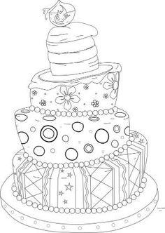 Beyond the Fringe Crafts: Free Whimsical Cake Digi Stamp! by smurfet422