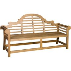 Carved Teak Garden Bench - Out There Interiors