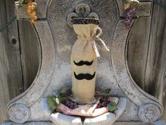Burlap Wine Bottle Cover by sherriwhinediva on Etsy, $16.00