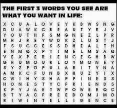 THE FIRST 3 WORDS YOU SEE IS WHAT YOU WANT