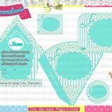 Kit Festa Floral no Elo7 | Marla Personalizados (2BC225) Shabby Chic, Floral, Personalized Items, Cards, Water Art, Mint To Be, House Party, Florals, Map