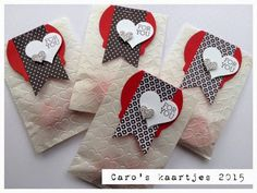 Stampin' Up!  Happy Valentine's Day! Stacked with Love paper stack Sweetheart punch Deco label collection framelits Banner famelits Crazy for you www.carooskaartjes.blogspot.nl