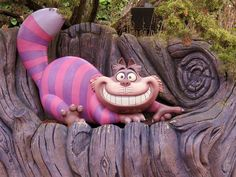 Das Lächeln    Disneyland Paris, September 2011,   Grinsekatze, Alice's Curious Labyrinth, Alice im Wunderland