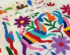 Otomí pillowcase Tenango pillowcase Embroidered Pillowcase
