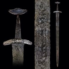 A Rare Viking Sword of Petersen Type L (Variant) and Wheeler Type VI, first half of the century. Vikings, Viking Sword, Swords And Daggers, Viking Art, Axe, Archaeology, Weapons, Medieval Swords, Arrows
