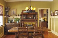 mission style colors living room | We did all the shelving to be in the Mission style; the home marks ...