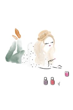 Nail Painting  #bybc #fashionillustration
