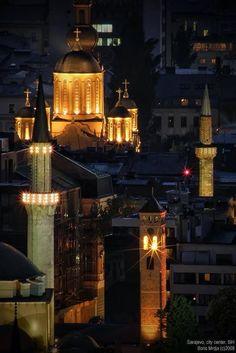 #religion #diversity #culture,,,Sarajevo city center,,by Boris Mrdja
