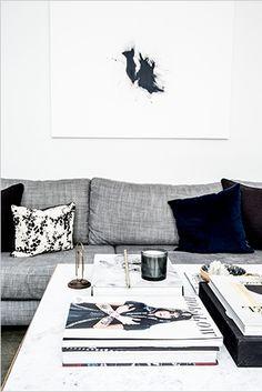 graphic art + pillows