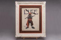 Original ROBERT B. ROBINSON Cover Art LIFE Magazine Pirate Bunny Painting Signed